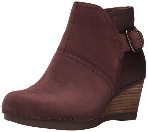 Dansko Women's Shirley Ankle Bootie, Wine Nubuck, 40 EU/9.5-10 M US (Red Patent Leather Danskos)