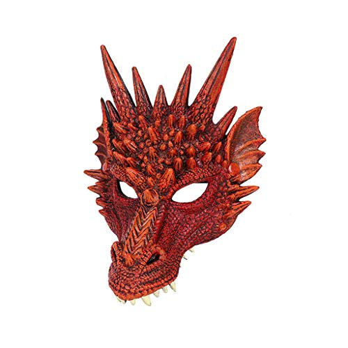 Scary Halloween Mask Cut Out - Luonita Halloween Mask,Halloween Cosplay Scary Dragon