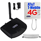 SolidRF SOHO Tri-Band AT&T, T-Mobile 4G/LTE Cell Phone Booster For All Carriers 2G/3G and AT&T, T-Mobile 4G LTE, 700(Band12)/850/1900 MHz