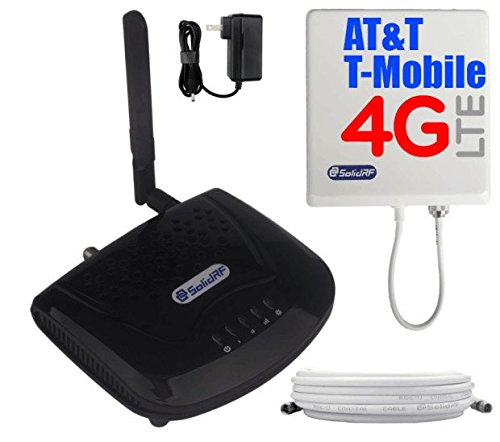 SolidRF Tri-Band SOHO at&T T-Mobile 4G LTE Cell Phone Signal Booster 2G/3G/4G at&T Verizon T-Mobile Sprint for Home Supports 4000 Sq Ft All Carriers