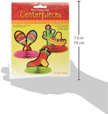 Cinco De Mayo Fiesta Mini Honeycomb Table Centerpiece Party Decoration Amscan 308900
