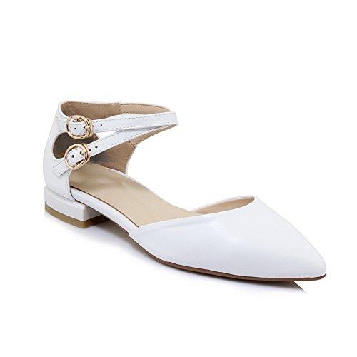 BalaMasa ASL05219, Sandales Compensées Femme - Blanc - Blanc, 36.5