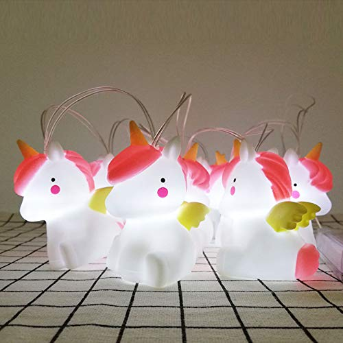 Unicorn Led String Lights With Remote Cute Animal Indoor