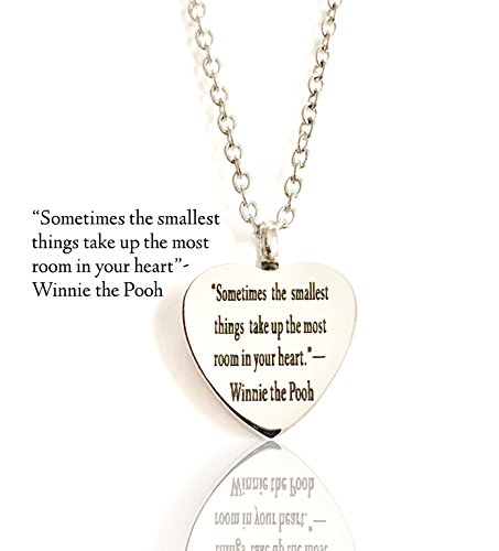 Beautiful Quotes By Winnie The Pooh Pet Dog Cat Cremation Ashes Remembrance Urn Pendant Necklace Jewelry Filling Kit included (Chime Tag Wind Dog)