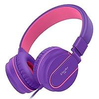 Elecder i36 Kids Headphones Children Girls Boys Teens Foldable Adjustable On Ear Headphones 3.5mm Jack Compatible iPad Cellphones Computer Kindle MP3/4 Airplane School Tablet