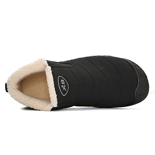 Zapatos Zapatos Libre Caliente Mujer Boots Fur Botines Tobillo Botas Nieve Aire Placas Nero Invierno Los Gracosy Cortas De Escarpa Alineado Piel Bx85wnxZ
