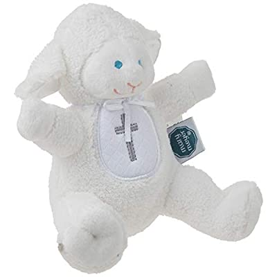Mary Meyer Baby Rattle Soft Toy, Christening Lamb : Baby Rattles : Baby
