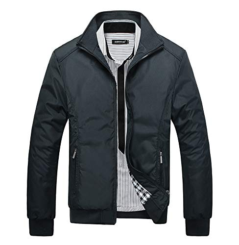 Collar Jackets Casual Black Mens Jacket XINHEO Stand Bomber Coat xq4OnZ