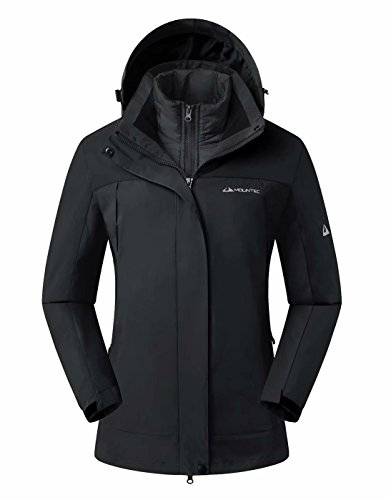 MOUNTEC 3in1 Women's Waterproof Outdoor Jacket with Removable Quilted Puffer Jacket Lining (Detachable Liner Jacket)