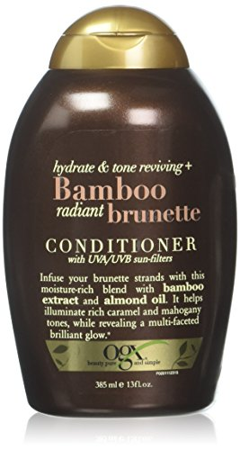 OGX Hydrate & Color Reviving + Bamboo Radiant Brunette Conditioner, 13 Ounce