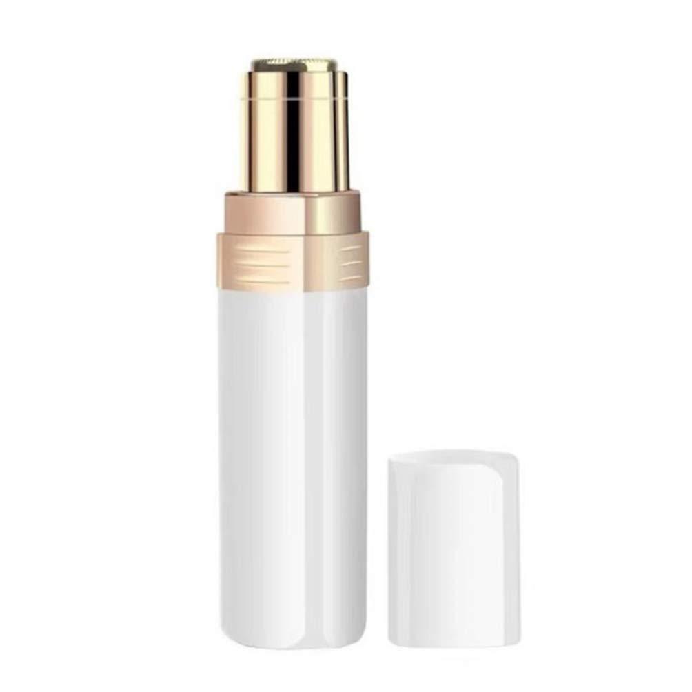 SUPVOX Electric Facial Hair Removal Women Lipstick Shape Painless Waterproof Facial Hair Shaver Razor for Peach Fuzz Fine Hair Chin Cheek Upper Lip No Battery