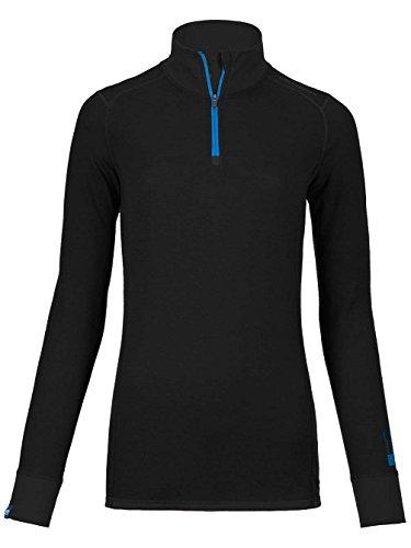Ortovox S de Soft 210Long Sleeve Zip Neck Camiseta Women–Black Raven