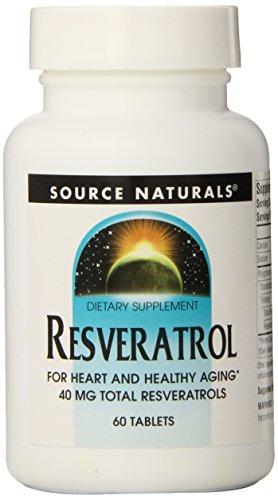 Source Naturals Resveratrol 40mg, 60 Tablets ()
