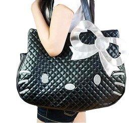 Hello Kitty Pu Single Shoulder Bag Cartoon Travel Bag,black