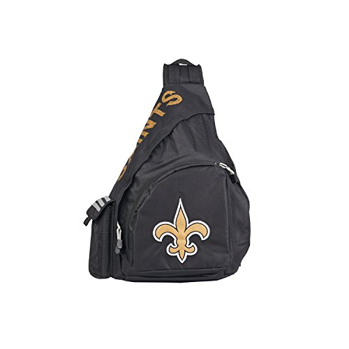 Officially Licensed NFL New Orleans Saints Leadoff Slingbag - New Orleans Saints Bag