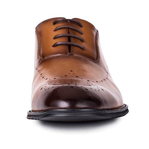 Jivana Oxford Busniess Dress Shoes for Men Father Lace-up (9, Brown-7) by Jivana (Image #3)