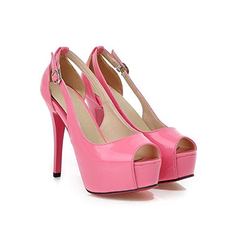 Girls Shoes BalaMasa Pull Height Leather on Platform Pumps Pink Patent dnqvn8f