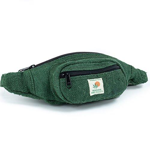Pure Hemp Fanny Pack - Green (Boho Festival Bag)
