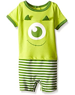 Disney Baby Boys' Monsters Knit Romper with 3D Horns