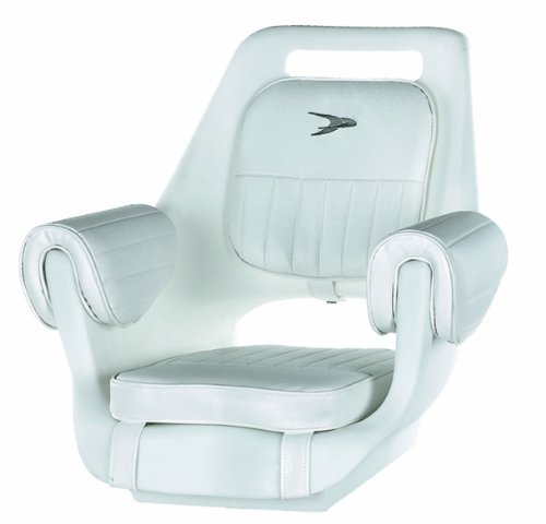 Wise 8WD007-3-710 Deluxe Pilot Chair with Cushions and Mounting Plate, White by Wise