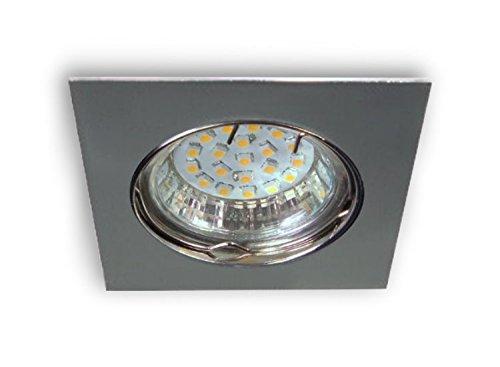 luz led empotrable, Discount - 230 V, 1,4 W/21smds cálida - bombilla GU10 Spot 0210 Cromado Brillante - Conexión Directa a 230 V sin Transformador: ...