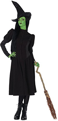 Womens Halloween Costume- Elphaba Witch Adult Costume Large