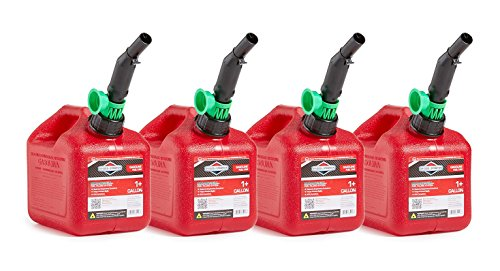 Briggs & Stratton 86013 Smart-Fill 1+ Gallon Gas Cans (4 (Wedco Gas Cans)