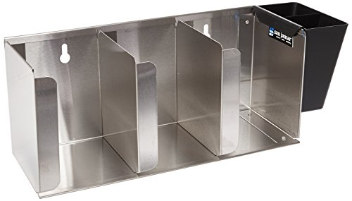 San Jamar L1014 Stainless Steel Adjustable Lid Organizer, 3 Stack Capacity by San Jamar