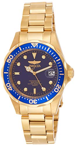 invicta mens gold watch blue dial - 4