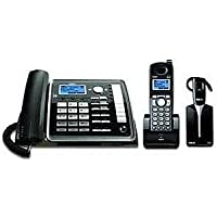 RCA 2 Line Expandable Corded Cordless Phone with Cordless Headset