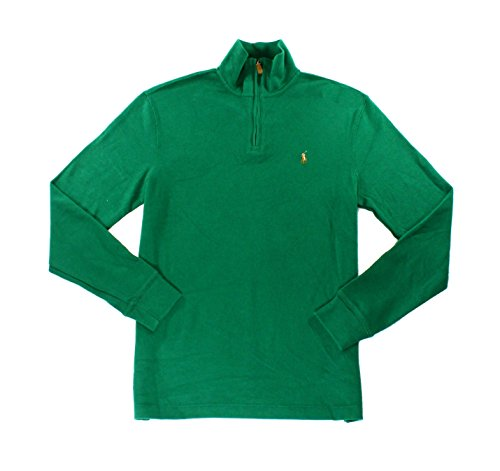 Polo Ralph Lauren Mens Cotton Ribbed Pullover Sweater Green - Shipping Polo Free