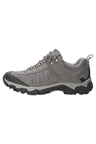 Mountain Warehouse Skyline Womens Walking Shoes - Ladies Hiking Boots Grey