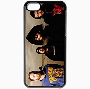 Personalized iPhone 5C Cell phone Case/Cover Skin 36 Crazyfists Beach Sand Waves Band Black