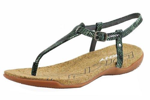 Donna Karan DKNY Women's Sabrina Teal Multi Fashion Sandal Shoes Sz: 7