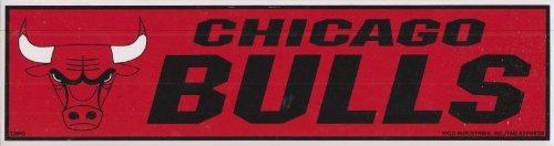 Rico NBA Bulls Bumper Sticker, 9 x 4, Logo Color