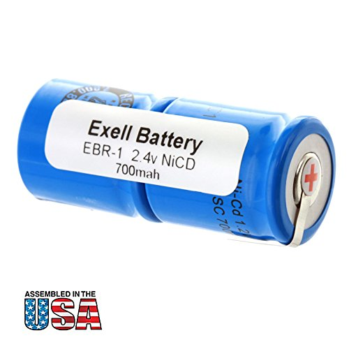 Razor Cell Phone Battery - Exell 2.4V Razor Battery For Norelco 482213810067 800 RX 805 RX 815RX/A 8852 895 895RX 950 950RX HP1337Remington 2B3 3BF1C 8BS3-1C 8BSE1C 9BF210 9BF21C MK1V PM 950 SM400 XLR 920 XLR950 RAZOR-1