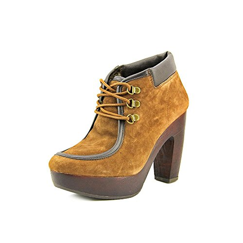 Round Boots Toe Womens Lucky Brand Cendara Dark Earth Ankle Fashion f04wt1xwq