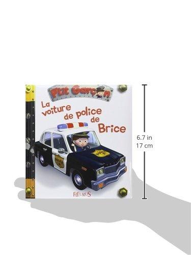 Bonnet tricot/é pour enfant en forme de voiture de police