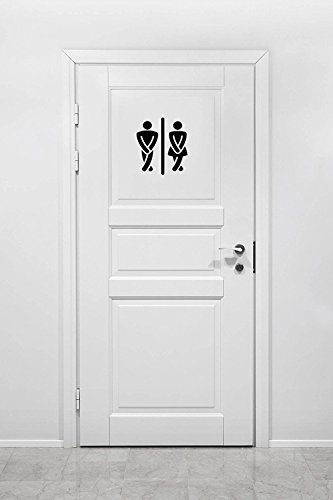 The Vinyl Design Company Bathroom Crossed Legs Mens and Womens Vinyl Decal Sticker - 7
