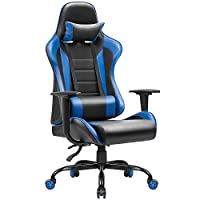 JUMMICO Gaming Chair High-Back PU Leather Racing Chair Ergonomic Computer Desk Executive Home Office Chair with Headrest and Lumbar Support