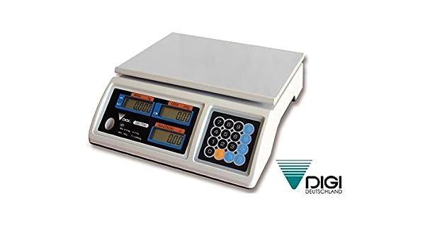 Ladenwaage DIGI DS-700 15kg 5g Waage Marktwaage geeicht bis Ende 2018: Amazon.es
