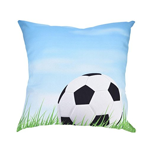 (LiPing World Cup 2018 Theme -17.7x17.7in/45x45cm I Love Football Polyester Cotton Soft Home Decor Cushion Cover Football Soccer Throw Pillowcase Pillow Covers (Q))