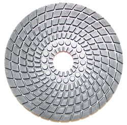 "Diamond Professionals 4P100 4"" Polishing Pad 100 Grit (Wet) For Marble, Granite, Stone, Concrete"