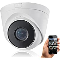 HDView 4MP Megapixel HD IP Network Camera WDR 2.8mm Wide Angle Lens Motion Detection SD Card Support Wide Dynamic Range IR Cut Filter Better IR Infrared Eyeball Dome PoE ONVIF