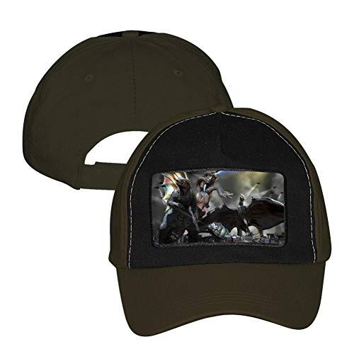(Godzilla 2 King of Monsters Adjustable Unisex Snapback Trucker Hat Mesh Cap Army Green)