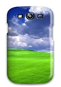 lintao diy Anti-scratch And Shatterproof Blue Green Landscape Phone Case For Galaxy S3/ High Quality Tpu Case