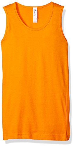 Clementine Apparel Girls' Little Everyday Wide Strap Tank Top, Mandarin ()