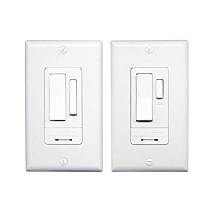 HeathZenith WC6023WH Indoor 3Way Switch Set White Wall Light