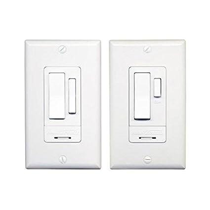 heath zenith wc 6023 wh indoor 3 way switch set white wall light rh amazon com Heath Zenith Wireless Remote Switch Heath Zenith Wired Door Chime