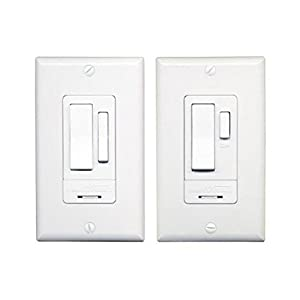 HeathZenith WC6023WH Indoor 3Way Switch Set White Wall - 3 Way Switch Options
